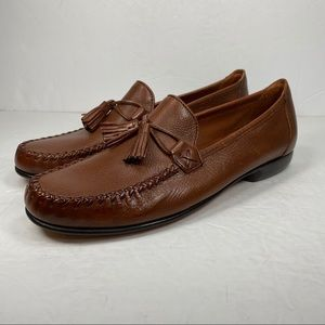 Cole Haan Country Brown Leather Tassel Loafer Shoe